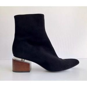 Alexander Wang Jude Floating Heel Suede Booties